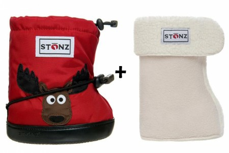 Stonz Toddler Booties (str M og L) Moose + Liners