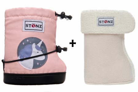Stonz Toddler Booties (str M og L) Unicorn + Liners